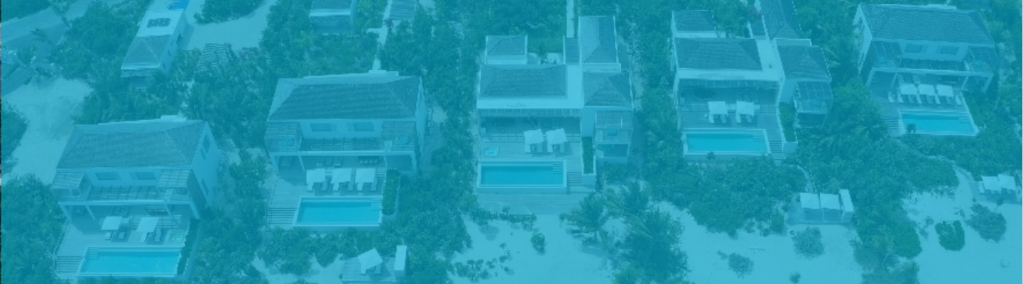 Aerial view of Beach Enclave villas